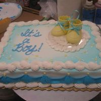 Its A Boy It's just a plain ol baby shower cake.. but I think it's cute