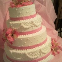 "Cute Pink Wedding Cake I saw a design by ""amy's cake"" on a different search engine.. I think she's ""mommyscakes"" or ""cakemommy&..."