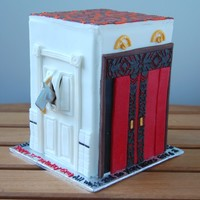 The Doors Of The Shining Birthday Cake By Charmpastry For a huge Stanley Kubrick fan. If you've seen the movie, you are familiar with the significance of each door.