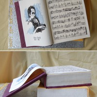 Music Books Birthday Cake By Charmpastry For a big fan of pianist Glenn Gould. Inside, vanilla cake, lemon curd, white chocolate lemon mousseline. Two tiers of cake, covered with...