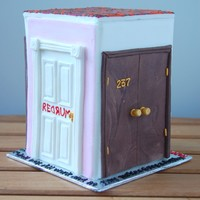 The Doors Of The Shining Birthday Cake By Charmpastry