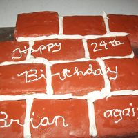 Friend's Birthday Cake I made this cake for a friend's birthday, who is a brick layer/contractor. The royal icing was a bit thick to do piping with but he...