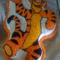 Tigger Cake   my mother-in-law loves Tigger...so here was her birthday cake.