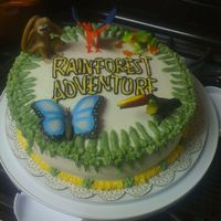 Rainforest Adventure Cake   Made this to celebrate Vacation Bible School ending.