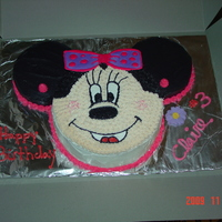 Minnie Mouse Birthday Cake chocolate cake with buttercream icing