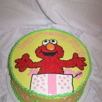 Girly Elmo All buttercream. Thanks to all the cc's for the idea.
