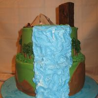 Camping Retirement Retirement cake for a guy at work who loves to camp with his son's boy scout troop. The outhouse was an idea from a cake here on cc...