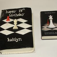"Anybody Eaten A Good Book Lately? I received a request for a ""Twilight"" cake, so this is my attempt at replicating one of the books. Since it would have taken an..."