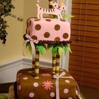 Queen Of The Jungle Baby shower cake, fondant, gumpaste