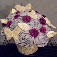 Cupcake Basket - Purple