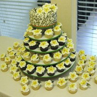 Frangipani Wedding Cupcakes I did this wedding cake for my best friend that had taken a recent trip to Barbados with her fiance, and discovered this flower there. She...