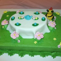 Miss Spider's Tea Party Cake  This was a joint effort cake I did with my sister (mocakes!) I love working with fondant and she is so skilled with flowers and piping. She...