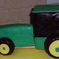 John Deere Tractor John Deere tractor made from rice krispie treats. For a 3 yr old birthday boy who loves tractors.