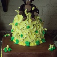 Monkey My version of a monkey on a pile of bananas. This was my first time making a fondant figure and I think I did pretty well. This was for a 3...