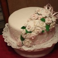 My First Fondant Cake I finally got the courage to try a fondant cake. I certainly is not perfect - but I am very pleased with the turnout. Gumpaste roses -...