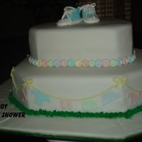 Boy Baby Shower WASC Cake, Raspberry Puree Filling, Toba Garrett Fondant recipe - gumpaste and fondant decorations