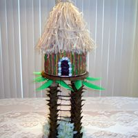 Tiki Hut/wedding Reception Cake I made this cake for my friend's wedding reception on May 19, 2007. They celebrated their vow's and honeymoon in Fiji. This cake...