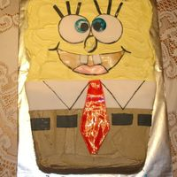 Sponge Bob Square Pants I made this cake for a little girls birthday. I didn't not use a form pan, but I did carve it my self. I used buttercream icing and...