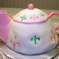 Tea Pot B-Day Cake I made a white almond sourcream cake with lemon filling for my sister's birthday. This is my second time working with fondant, still...