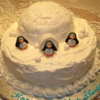 Igloo Birthday Cake I made this cake for an adult man's birthday. His birthday was Christmas Eve and his wife wanted a winter theme. I didn't have...