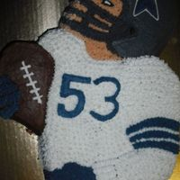 Dallas Cowboys Cake Made this one for my father in law's birthday. The number on the jersey is actually his age.