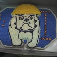 Bulldog Cake This cake was made for my supervisor's husband. It was his birthday and he is a union buff!