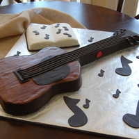 Guitar Cake This cake was for a good friend of mine. Here dad plays a martin guitar and wanted a cake to look like it. My first guitar. It ended up...