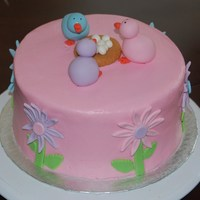 Easter Chicks I got the idea for this cake from a fellow CC. Red velvet with BC. fondant accents