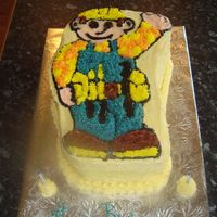 Bob The Builder This is a bob the builder cake i made for a friend's sons 2nd birthday party