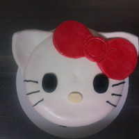 "Hello Kitty Cake 6"" cake covered in fondant"