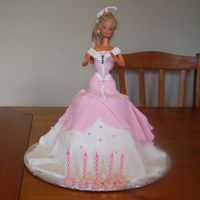 Pink Barbie Cake This is a cake i made for a friends Daughter's 5th birthday