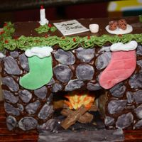 Gingerbread Fireplace