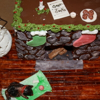 Gingerbread Fireplace Fireplace done for daughters teacher, so much fun! Chocolate, royal and mmf accents.