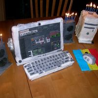 This Computer Doesn't Have Cookies...it Has Cake! My love, Marius's birthday cake! It turned out exactly how I wished and more!! Marius loves to use fruityloops to make his own beats...
