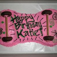 Skateboard Cake upside down skateboard cake with grafitti