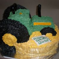 3D Tractor thanks to Cakes by Jamey for the inspiration on this one.