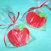 Apples Apples cookie favors made for a Teacher who was retiring. Sugar cookies with glaze and royal icing accents