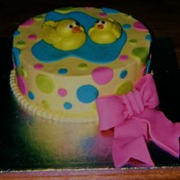 Rubber Ducky First B-Day Cake I had seen this done in a two tier version a long time ago, I can't find the pic now to give credit, but they are on CC. Buttercream...