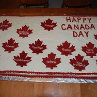 "Canada Day Cake This is twelve 9""x13"" cakes put together. It was for the city's Canada Day celebration in Iqaluit. I had trouble getting it..."