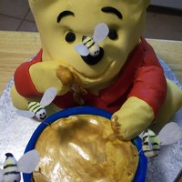 Pooh & Hunny   Yellow cake covered with fondant