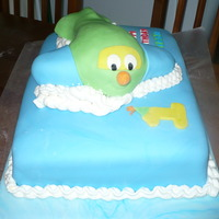 Aeroplane rainbowcake,vanilla icing, all cover in fondant. Was for my cousin son, the thime was aeroplane, I like the result.