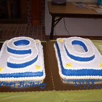 90Th Birthday Cake Made for a very special person's milestone birthday. one cake was vanilla, one chocolate