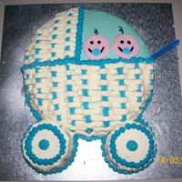 Twin Boys Pram Cake. I made this for my sister in-laws baby shower. She was having twin boys and i couldnt really find anything on here that i liked. So i just...