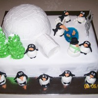 Penguin / Igloo Cake I made this cake for my sons birthday. He is obsessed with penguins. I got the idea from many different penguin cakes on here. It was very...