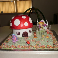 Toadstool / Mushroom Cake This cake was a disaster from the start. It was 2 weeks after my baby was born and i had barely slept in days. Nothing turned out right. I...
