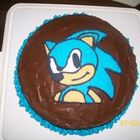 Sonic The Hedgehog Cake I made this for my Uncles Birthday for a bit of fun.