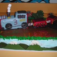 Train Cake Inspired by thomas train engine character