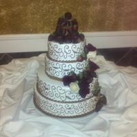 Chocolate Quinceanera Tres leches with whipped icing. Chocolate covered Strawberries.