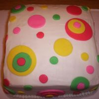 Polka Dot Cake I made this cake for my daughter's 10th birthday party. She loves polka dots and it just seemed to be the best theme to do for her...