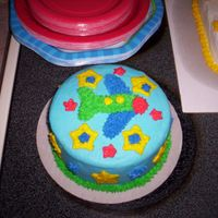 First Birthday Cake  This cake was the individual cake that my nephew was able to dig into. He had a blast and it went well the the theme of his party and the...